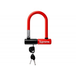 FW18 Supreme Kryptonite Evolution Mini 5 Bicycle Lock U Lock Red