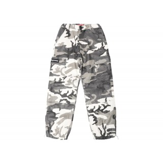 FW18 Supreme Leather Cargo Pants Snow Camo