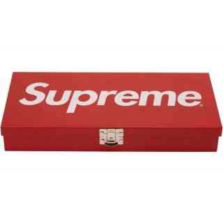 FW18 Supreme Large Metal Storage Box Red