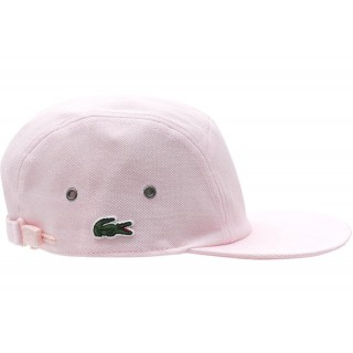 FW18 Supreme Lacoste Pique Knit Camp Cap Light Pink