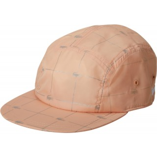 FW18 Supreme LACOSTE Reflective Grid Nylon Camp Cap Peach