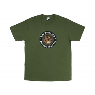 FW18 Supreme Life Sucks Die Tee Olive