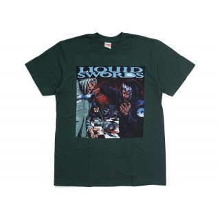 FW18 Supreme Liquid Swords Tee Dark Green