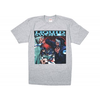 FW18 Supreme Liquid Swords Tee Heather Grey