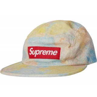 FW18 Supreme Multicolor Denim Camp Cap Multicolor