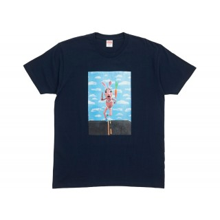 FW18 Supreme Mike Hill Runner Tee Navy