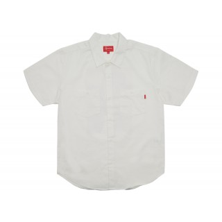 FW18 Supreme Michael Jackson SS Work Shirt White