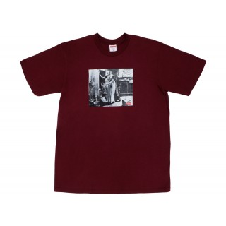 FW18 Supreme Mike Kelley Hiding From Indians Tee Burgundy