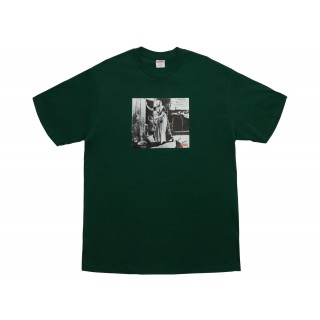 FW18 Supreme Mike Kelley Hiding From Indians Tee Dark Green