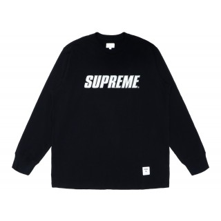 FW18 Supreme Metallic L/S Top Black
