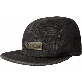 FW18 Supreme Metal Plate Camp Cap Black