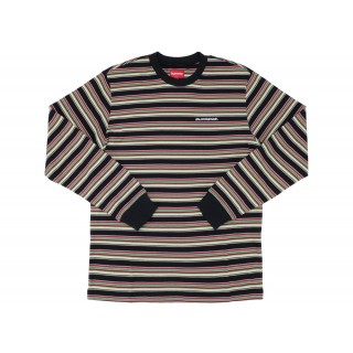 FW18 Supreme Multi Stripe L/S Top Black