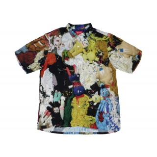 FW18 Supreme Mike Kelley More Love Hours Than Can Ever Be Repaid Rayon Shirt Multicolor