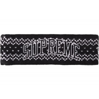 FW18 Supreme New Era Arc Logo Headband (FW17) Black
