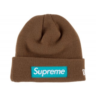 FW18 Supreme New Era Box Logo Beanie (FW17) Rust