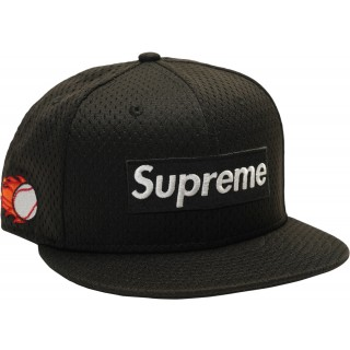 FW18 Supreme New Era Mesh Box Logo Cap Black