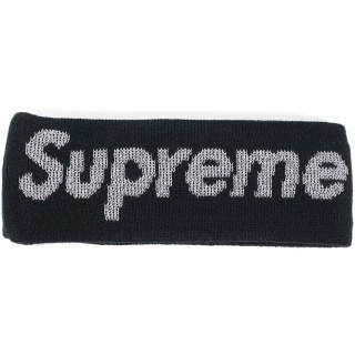 FW18 Supreme New Era Reflective Logo Headband (FW 17) Black