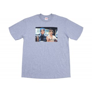 FW18 Supreme Nan Goldin Misty and Jimmy Paulette Tee Heather Grey