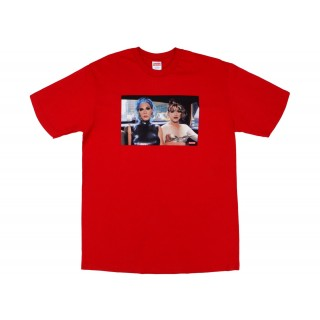 FW18 Supreme Nan Goldin Misty and Jimmy Paulette Tee Red