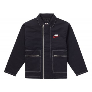 FW18 Supreme Nike Double Zip Quilted Work Jacket Black