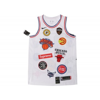 FW18 Supreme Nike/NBA Teams Authentic Jersey White
