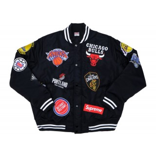 FW18 Supreme Nike/NBA Teams Warm-Up Jacket Black
