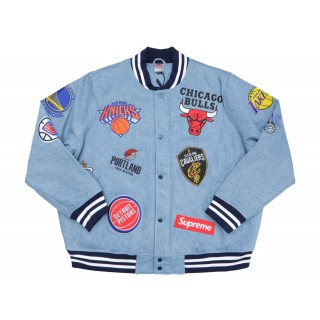 FW18 Supreme Nike/NBA Teams Warm-Up Jacket Denim