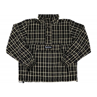 FW18 Supreme Nylon Plaid Pullover Tan
