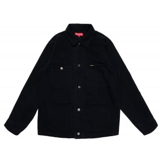 FW18 Supreme NY Tapestry Denim Chore Coat Black