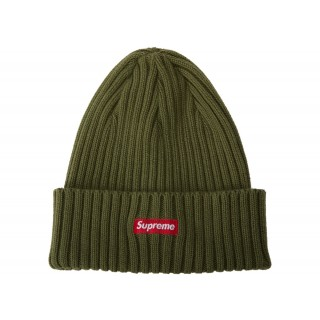 FW18 Supreme Overdyed Ribbed Beanie (SS18) Washed Olive