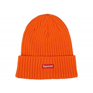 FW18 Supreme Overdyed Ribbed Beanie (SS18) Washed Orange