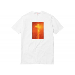 FW18 Supreme Piss Christ Tee White