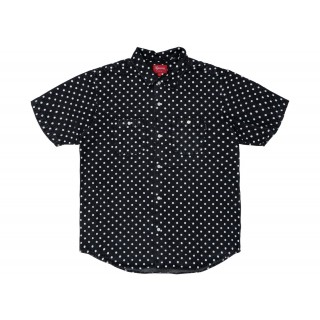 FW18 Supreme Polka Dot Denim Shirt Black
