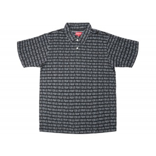 FW18 Supreme Pray For Us Jacquard Polo Black