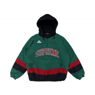 FW18 Supreme Puffy Hockey Pullover Dark Green