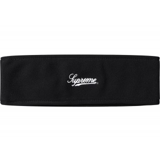 FW18 Supreme Polartec Logo Headband Black