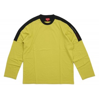 FW18 Supreme Paneled L/S Top Acid Green