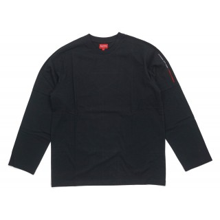 FW18 Supreme Paneled L/S Top Black