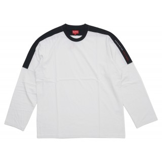 FW18 Supreme Paneled L/S Top White