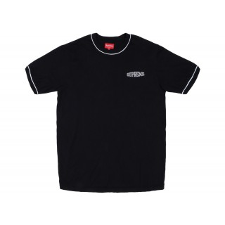 FW18 Supreme Piping Ringer Tee Black