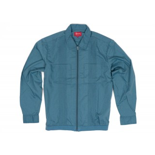 FW18 Supreme Pin Tuck Zip Up Shirt Light Blue