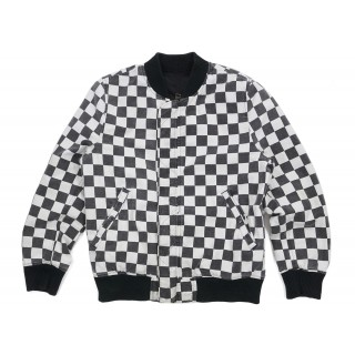 FW18 Supreme Reversible Checkered Ma-1 Bomber Black
