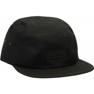 FW18 Supreme Rubber Logo Camp Cap Black