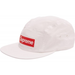 FW18 Supreme Raised Logo Patch Camp Cap White