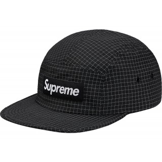 FW18 Supreme Reflective Ripstop Camp Cap Black