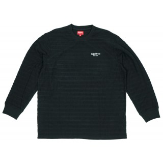 FW18 Supreme Rope Stripe L/S Top Black