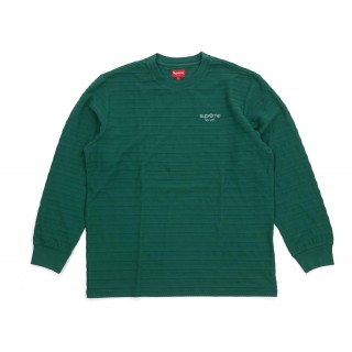 FW18 Supreme Rope Stripe L/S Top Dark Green