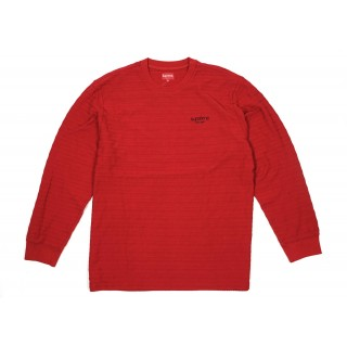 FW18 Supreme Rope Stripe L/S Top Dark Red