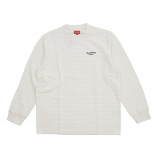 FW18 Supreme Rope Stripe L/S Top OffWhite