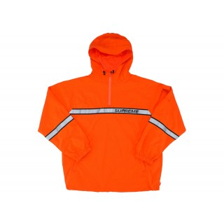 FW18 Supreme Reflective Taping Hooded Pullover Orange